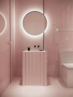 Discover pink bathroom inspiration only in home design site Salon Interior Design, Bathroom Interior Design, Bad Inspiration, Bathroom Inspiration, Interior Inspiration, Brown Bathroom, Modern Bathroom, Italian Bathroom, Small Bathrooms