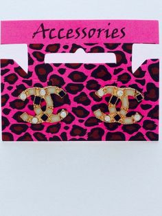 Chanel Style Symbol Earrings - Steal Her Style | Online Fashion Store | Shop The Latest Trends £5