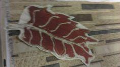 A leaf I designed with with Batik And a Machine Stitch