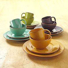 Bobby Flay 16-pc. Dinnerware Set - Obsessed with the colors and look of this set! Bobby Flay knows what he's doing!