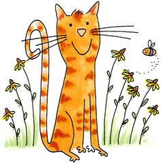 Tabby Mew loves the bees and so should we <3