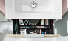 burgbad - Eqio glass washbasin and drawer