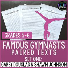 Gymnastics Paired Texts: Gabby Douglas and Shawn Johnson (Grades 5-6)