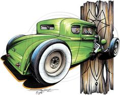 Hot Rod 5 Window Coupe Brent Gill TShirt by firelandsteeshirts, $14.99
