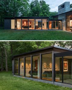Superior Mirrored Shed House In The Depths Of The Forest | The Materials Used On The  Exterior Of This Modern House Is Dark Stained Cedar Wood And Glass With A  Stone ...