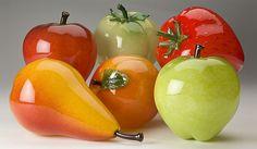 frutas de vidro decorativas - Pesquisa Google