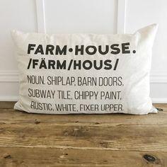 Farmhouse Definition Pillow Cover