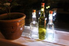Recycle Your Glass Bottles Into Ecological And Decorative Lamps