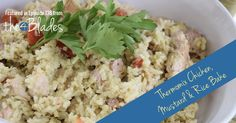 Thermomix Chicken, Mustard and Rice Bake. Whole Food Recipes, Dinner Recipes, Home Meals, Low Fodmap, Tasty Dishes, Casserole Dishes, Chicken Recipes, Rice, Stuffed Peppers