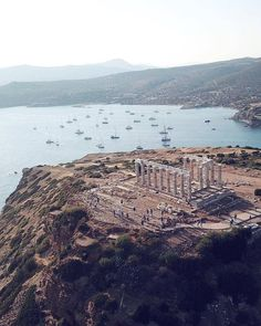Take a closer look at the Temple of Poseidon in Athens, Greece.
