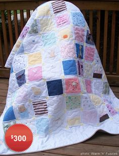 keepsake quilt, send baby clothes you can't bear to part with and someone on etsy will make them into a quilt! love it!