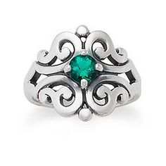 Spanish Lace Ring with Emerald at James Avery... possible class ring for UNT