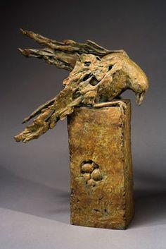☥ Figurative Ceramic Sculpture ☥ Immi C. Storrs | Bird on a Nest, 2006