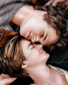 Heather Rooney Art - Colored pencil drawing of Hazel Grace and Augustus Waters (The Fault In Our Stars) Augustus Waters, Hazel Et Augustus, Romantic Movies, Romantic Couples, Cute Couples, Romantic Artists, Beautiful Couple Quotes, Fault In The Stars, Couple Wallpaper Relationships