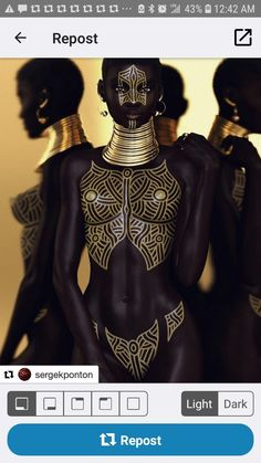 African Girl, African Beauty, African Women, Black Girl Art, Black Women Art, Black Girl Magic, Dark Skin Models, Black Models, Female Body Paintings