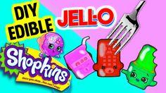 DIY EDIBLE JELLO SHOPKINS GUMMIES! EAT MINIATURE SHOPKINS GUMMY TREATS! DIY KOOL-AID JELLO TOYS! - YouTube