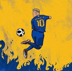 Football Player Drawing, Soccer Drawing, Psg, Cr7 Juventus, Best Football Players, Football Art, Real Madrid Images, Football Paintings, Neymar Jr Wallpapers