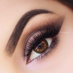 Brown, angled, soft, smokey #eye #makeup #eyes #eyeshadow #bold #bright #dramatic #neutral
