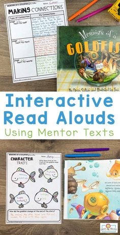 These interactive read aloud lesson plans use 75 different picture books to teach over 40 different reading comprehension skills. Each lesson has a carefully selected picture book to use as a mentor text. This resource is perfect for the 2nd, 3rd, 4th, or 5th grade classroom! #interactivereadalouds #readalouds #mentortexts Classroom Pictures, Classroom Ideas, Text To World, Interactive Read Aloud, Reading Comprehension Skills, 5th Grade Classroom, Read Aloud Books, 3rd Grade Reading, Mentor Texts