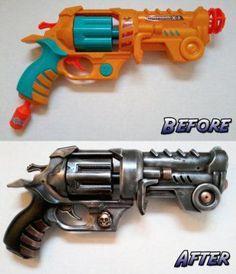 how to make a steampunk gun from a nerf gun