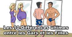 Les différences entre les gars et les filles. Êtes-vous d'accord?