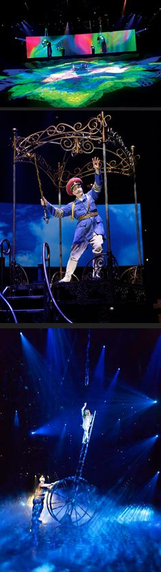 see Cirque du Soleil in Las Vegas, New York City, and Paris France