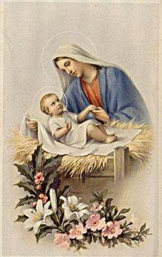 Marie et enfant - Image pieuse / Holy card / Heiligenbild | Flickr - Photo Sharing!