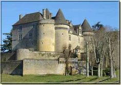 Danielle's (Drew Barrymore) home in the movie Ever After.  chateau fenelon dordogne perigord, sarlat, feudal castles, chateaus, castle, carlux : Château de Fénelon, a feudal fortress located between ...