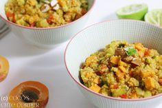 Couscous Salat mit Gemüse und indischer Würze - gesund, lecker und vegan
