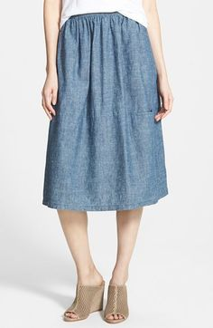 Eileen Fisher Chambray Skirt available at #Nordstrom