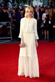 Sienna Miller de Michael Kors en el BFI London Film Festival.
