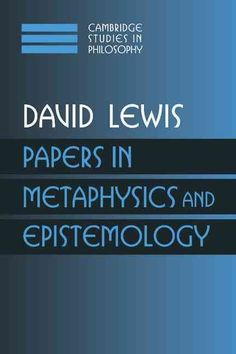 This is part of a three-volume collection of most of David Lewis' papers in philosophy, except for those that previously appeared in his Philosophical Papers (Oxford University Press, 1983 and 1986).