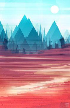 Scott Uminga I L L U S T R A T I O N S Pinterest - City skylines turned into geometric metropolises by scott uminga