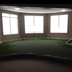 Indoor putting green-nice!