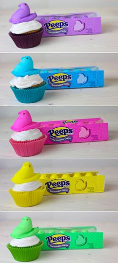 I'm definitely doing this! My hubby and daughter love peeps! Plus, the bright colors are so pretty.