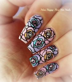 You should stay updated with latest nail art designs, nail colors, acrylic nails, coffin nails, almond nails, stiletto nails, short nails, long nails, and try different nail designs at least once to see if it fits you or not. Every year, new nail designs for spring summer fall winter are created and brought to light, but when we see these new nail designs on other girls' hands, we feel like our nail colors is dull and outdated. Rose Flower Nail Art Stamp Template Image Plate Nail Stamp…