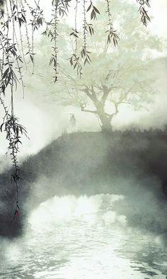 Ibuki satsuki More Art Asiatique, Tinta China, China Art, Art Background, Chinese Background, Chinese Painting, Ancient Art, Japanese Art, Watercolor Art