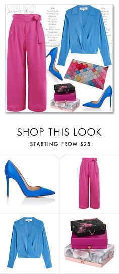 """Pink lady"" by nerma10 ❤ liked on Polyvore featuring Gianvito Rossi, Diane Von Furstenberg and Ted Baker"