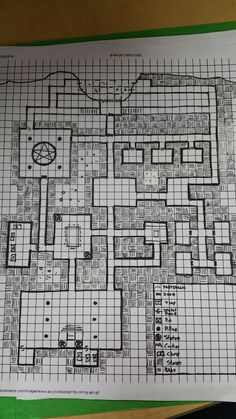 My first attempt at a Dyson style dungeon map.  Still a work in progress.