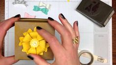 How to use the Stampin' Up! Bow Builder Punch and make a Flower