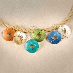 Almost like honeycombs! Handmade Petite Northern Lights Earrings by Holly Yashi.