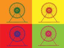 Ferris Wheel retro Imagem de Stock