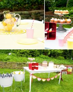 cute for a lil girl/or girly baby shower...pink lemonade party
