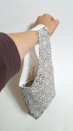 Knitting Bag  Crochet Bag  Small Wrist Bag  Sock by SheepSprouts