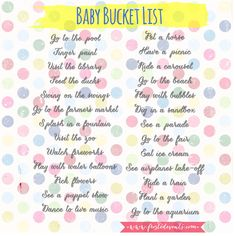 Our Summer Baby Bucket List - Fun things to do with your baby or toddler this summer. List of activities, outdoor adventures, sensory play @frostedevents #baby #babybucketlist #summer
