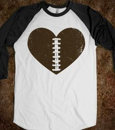 Football Heart - Sports Fun - Skreened T-shirts, Organic Shirts, Hoodies, Kids Tees, Baby One-Pieces and Tote Bags