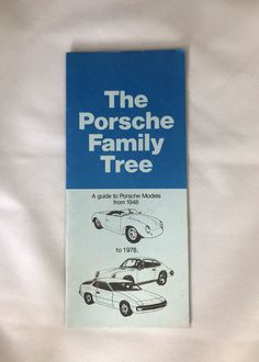 Excited to share this item from my #etsy shop: The Porsche Family Tree pamphlet. Vintage Man Cave Ideas, Porsche Models, Vinyl Record Storage, Vintage Porsche, Smudging, Handmade Items, Etsy Shop, Cover, Collection