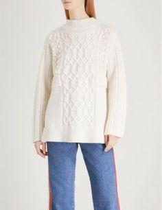 WHISTLES - Oversized wool-blend jumper | Selfridges.com