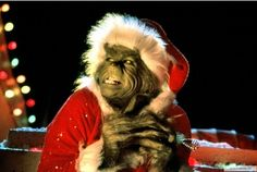 Jim Carrey as The Grinch... My Favorite Holiday movie!!