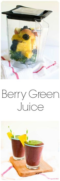 Leave the fiber in your berry green juice to keep you full. This berry green juice is chalk full of nutrients from kale, pineapple, blackberries, and apple